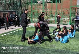 آیین اختتامیه دومین لیگ فوتبال پسران آینده ساز و اولین لیگ داژبال