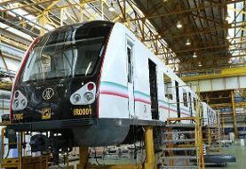 نخستین نمونه قطار ملی مترو در پایتخت رونمایی شد