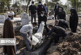 (تصاویر) خاکسپاری فوتیهای کرونا در آرامستان اهواز