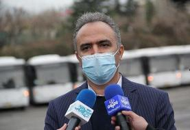 توزیع ۲۰ هزار ماسک میان رانندگان شرکت واحد اتوبوسرانی تهران