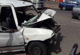 فوت چهار عضو یک خانواده در تصادف تریلی با پراید