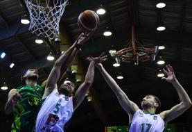 پیروزی ذوبآهن و نیرو زمینی در هفته پایانی دور گروهی لیگ برتر بسکتبال
