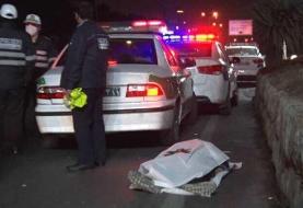جانباختن یک تن در پی تصادف در بزرگراه فداییان اسلام