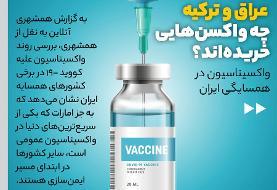 اینفوگرافیک | کشورهای همسایه چه واکسنی می زنند؟