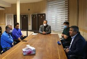 حضور کمالوند در جلسه مجیدی و مدیرعامل/عکس