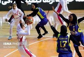 مهرام در یک قدمی جام قهرمانی لیگ بسکتبال زنان