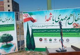 مراسم روز درختکاری در موزه دفاع مقدس استان مرکزی برگزار شد