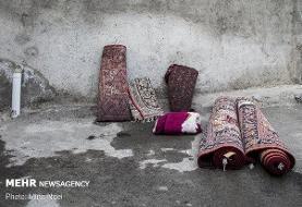 قالیشویی سنتی در مناطق حاشیه نشین تبریز