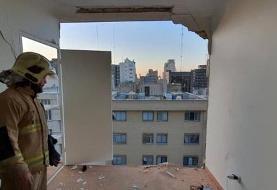 انفجار یک ساختمان اداری در تهران/ یک نفر مصدوم شد