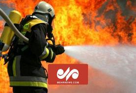تلاش آتش نشان ها برای مهار آتش در مرز افغانستان