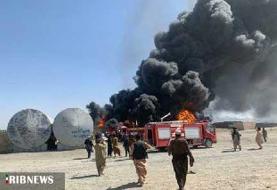 آتش سوزی در گمرک مرزی افغانستان با ایران مهار شد (+عکس)