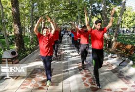 ورزش خانوادگی در بوستانهای تهران ۲۰ اسفند تا ۲۰ فروردین/ طناب زنی و پیاده روی
