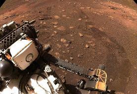 عکس | رد چرخهای استقامت در مریخ