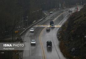 برف و باران در جادههای ۳ استان