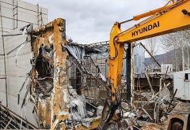 (تصاویر) تخریب ساخت و سازهای غیرقانونی در کلاک