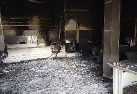 آتشسوزی یک بانک در بم مهار شد