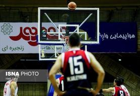 مهرام دومین تیم صعود کننده به یک چهارم لیگ بسکتبال