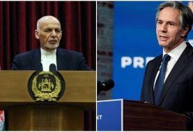 نامه بلینکن به غنی: در مورد صلح و آینده سیاسی افغانستان اقدام فوری شود