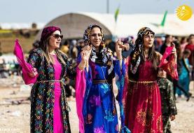 (تصاویر) جشن روز جهانی زن در منطقه کُردنشین سوریه