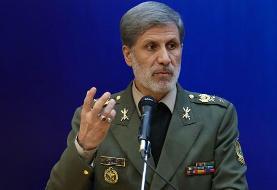 وزیر دفاع: تلآویو و حیفا با اشاره فرمانده معظم کل قوا با خاک یکسان میشود