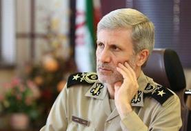 وزیر دفاع عروج جانشین فرمانده نیروی قدس سپاه را تسلیت گفت