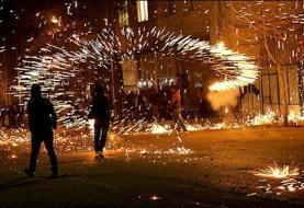 مصدومیت ١١ تن در تهران بخاطر چهارشنبهسوری