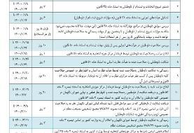 جدول زمان بندی انتخابات میان دورهای مجلس شورای اسلامی اعلام شد