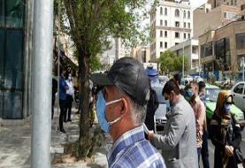 تحمع اعتراضی سهامداران مقابل ساختمان بورس اوراق بهادار