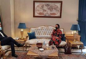 عکس | جزئیات دیدار ماریا زاخاروا سخنگوی زن وزارت خارجه روسیه با خطیب زاده همتای ایرانی