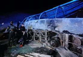 حادثه واژگونی اتوبوس در مصر ۲۰ کشته برجا گذاشت