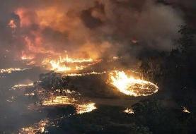 آتشسوزی گسترده در محله فقیرنشین هند