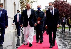 بلینکن وارد کابل شد، طالبان از تصمیم خروج آمریکاییها استقبال کرد