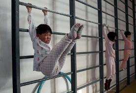 تصاویر   مدرسه ژیمناستیک در چین   تمرینهای طاقت فرسا برای المپیک توکیو