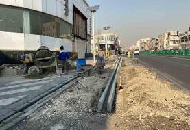 ساخت نهر در خیابانهای امامت و سیمتری نیرویهوایی
