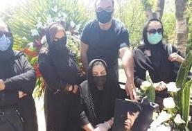 محسن قاضی مرادی در قطعه هنرمندان بهشت زهرا به خاک سپرده شد (+عکس)