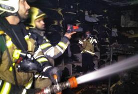 مغازه ای در پاساژ مهستان تهران طعمه آتش شد