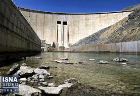 ویدئو / کاهش آب سد زایندهرود