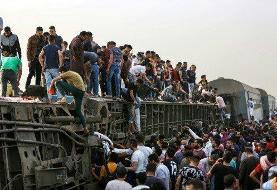 ده ها کشته و مصدوم در پی وقوع سانحه ریلی در مصر