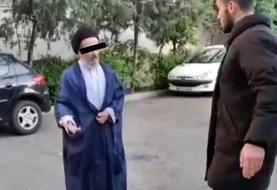 پشت پرده ویدیوی جنجالی سیلی یک جوان به روحانی/کلیپ ساختگی با بازی پدر و پسر