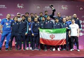 کشتی آزاد ایران بر بام آسیا ایستاد