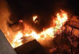 آتشسوزی و انفجار در شهرک صنعتی اردبیل با ۲ فوتی