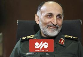 اقامه نماز بر پیکر شهید سردار حجازی