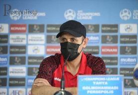 گلمحمدی: بازیکنان پرسپولیس جنگجو هستند و تسلیم نمی شوند