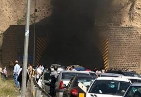 وقوع آتشسوزی در تونل آزادراه تهران_ پردیس