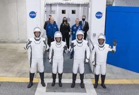فضاپیمای شرکت «اسپیسایکس» با چهار فضانورد راهی ایستگاه فضایی بینالمللی شد