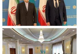 دیدار ظریف با وزیر خارجه قزاقستان