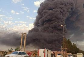جزئیات جدید از آتشسوزی کارخانه الکل قم   اعلام وضعیت بحرانی در منطقه   حضور ۱۰۰ آتش نشان برای ...