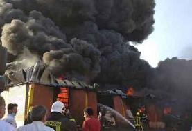 مصدومیت شدید یک آتش نشان در آتش سوزی قم | سخنگوی آتش نشانی: مردم دعا کنند