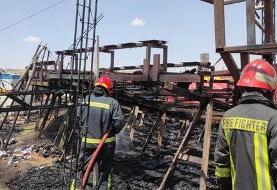 سیرک شیراز در شعلههای آتش سوخت