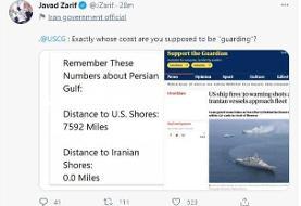 ظریف خطاب به آمریکاییها: شما دقیقا قرار است از سواحل چه کسی محافظت کنید؟